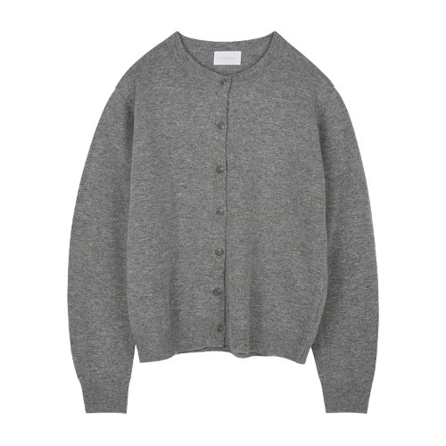 iuw940 simple rounded cardigan (grey)