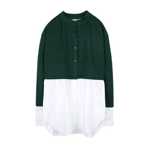 iuw920 layered shirts knit (green)