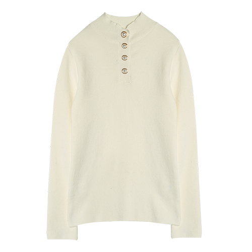 iuw0002 button-pearl knit top (ivory)