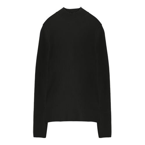 iuw0004 high-neck knit top (black)