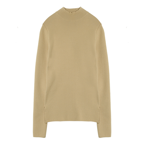 iuw0005 high-neck knit top (beige)