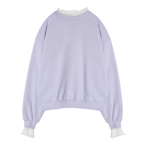iuw0017 lace-neck sweatshirt (purple)