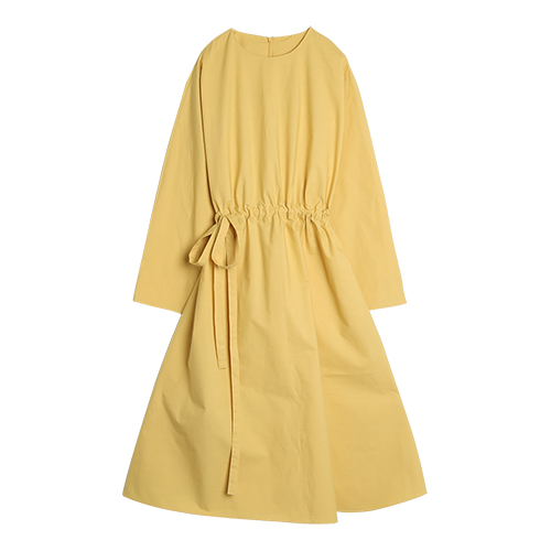 iuw0025 cotton dress (yellow)