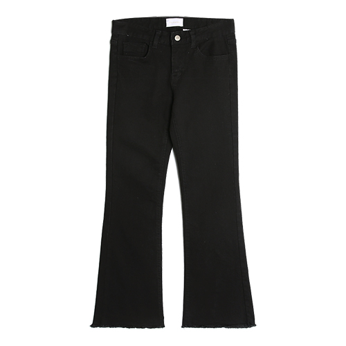 iuw0028 flared jeans (black)