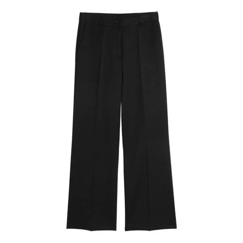 iuw0031 wide slacks (black)