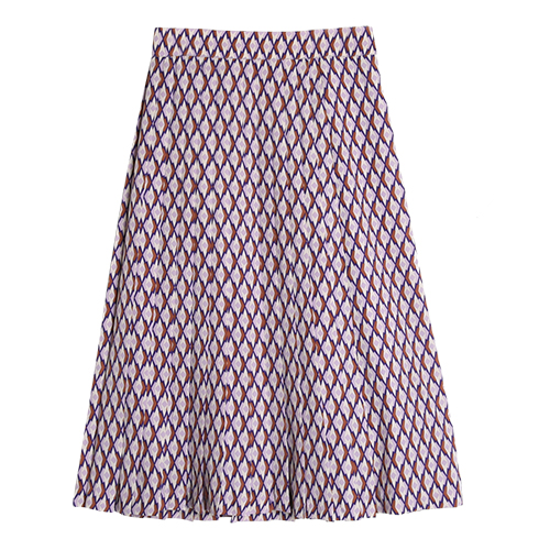 iuw0034 high-rise pleated midi skirt