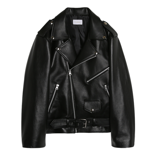 (양가죽)iuw0038 oversized leather jacket