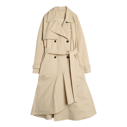 iuw0039 flared trench coat