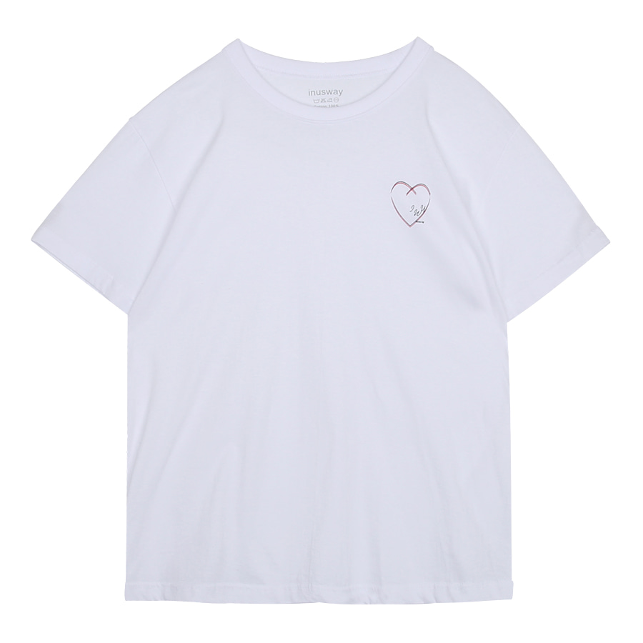 iuw0040 love sketch T-shirt (white)