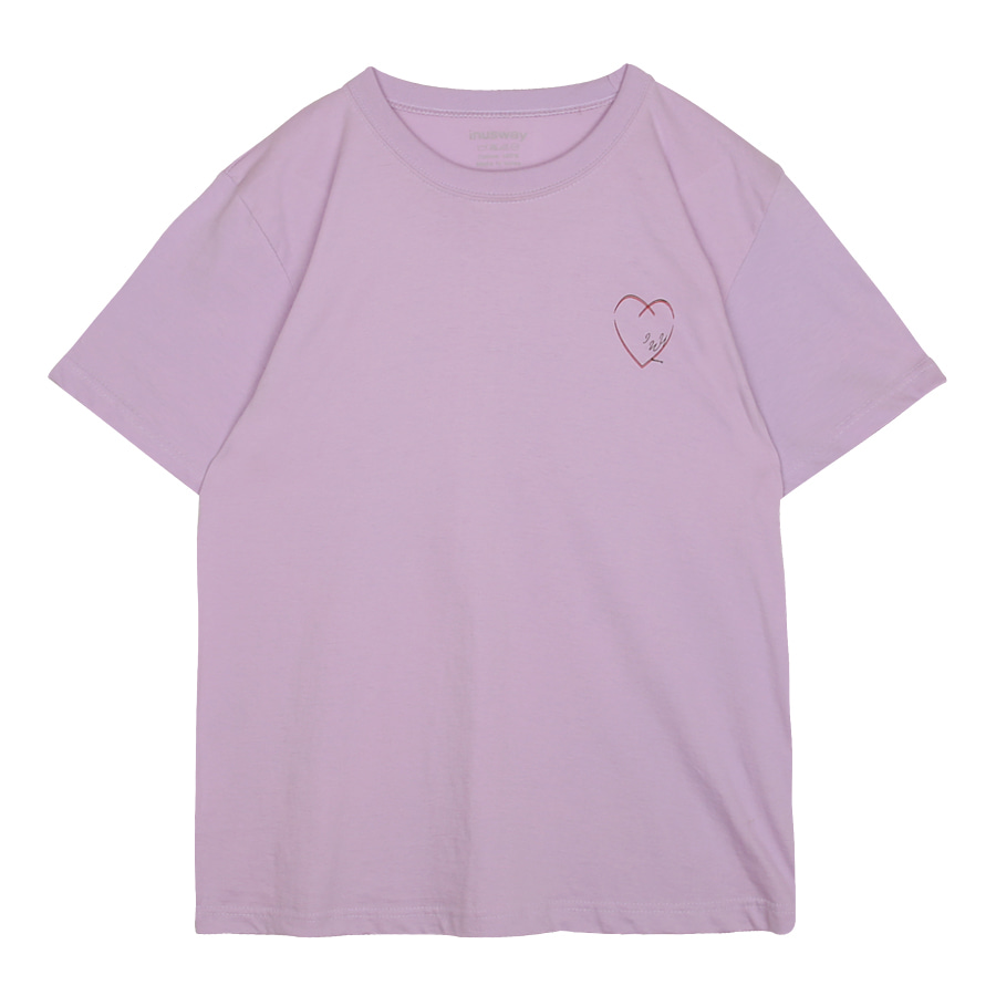 iuw0041 love sketch T-shirt (purple)