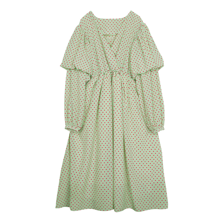 iuw0046 dot ballon dress