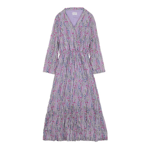 iuw0109 floral_print pleated dress (purple)