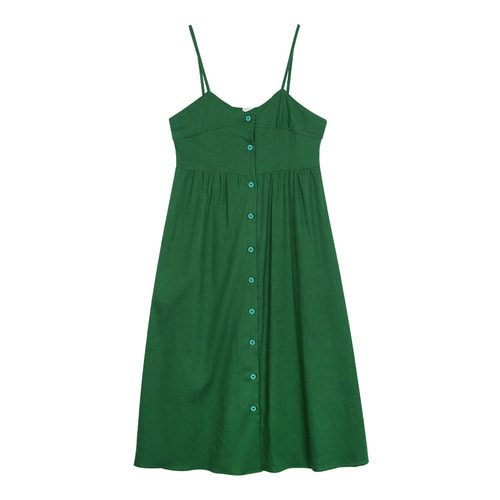 iuw0111 button linen bustier dress (green)
