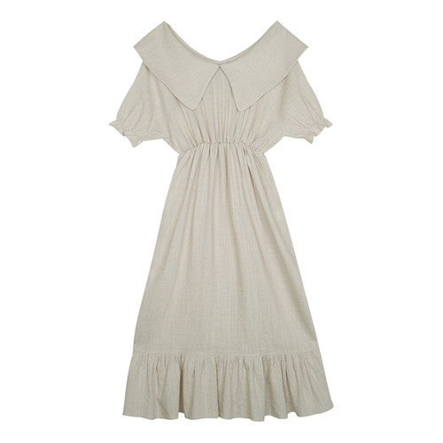 iuw0115 big_collar linen dress