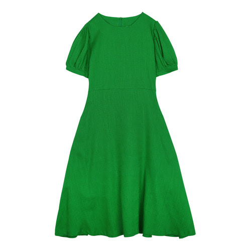 iuw0116 puff_sleeve linen dress (green)