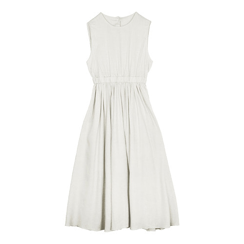 iuw0118 back_button linen dress (ivory)