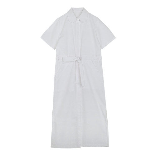 iuw0121 tie_waist cotton shirtdress (white)