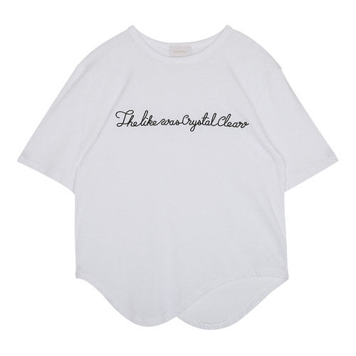iuw0084 lettering round T-shirt (white)