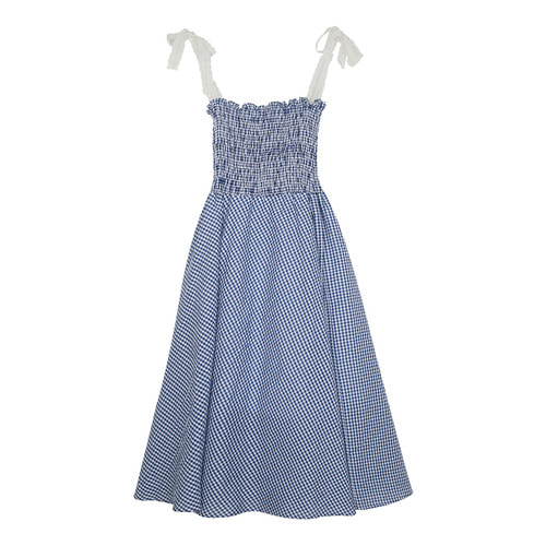 iuw128 gingham_lace dress (blue)