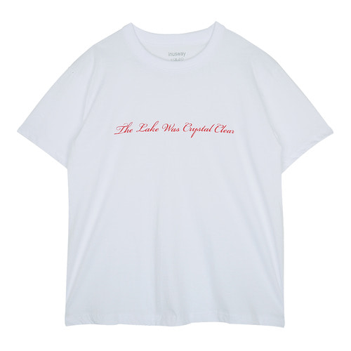 iuw130 basic lettering T-shirts (white)