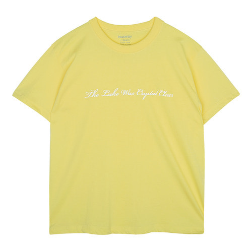 iuw132 basic_lettering T-shirts (yellow)
