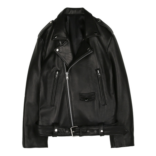 iuw185 leather jacket (black)