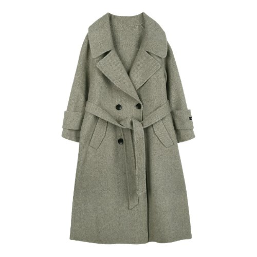 iuw243 handmade double coat (khaki)