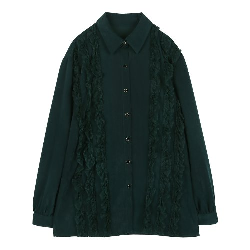 iuw229 Lace blouse (green)