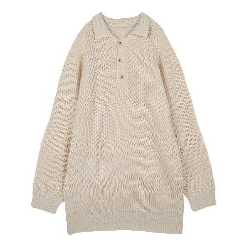 iuw218 collar long knit (ivory)