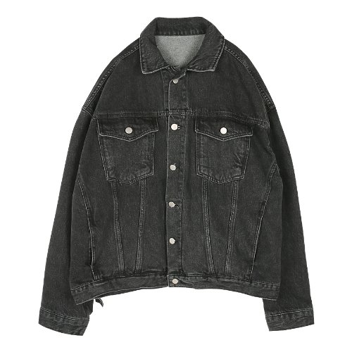 iuw311 denim jacket (black)