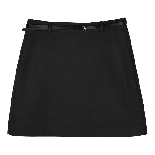 iuw583 belt set mini skirt (black)
