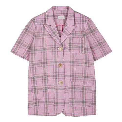 iuw381 Short sleeved jacket (pink)
