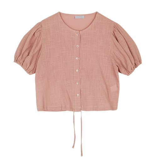 iuw428 String puff blouse (pink)