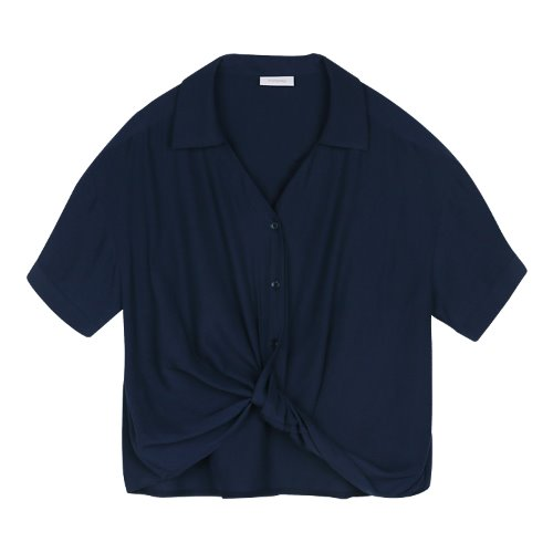 iuw429 Twisted shirts (navy)