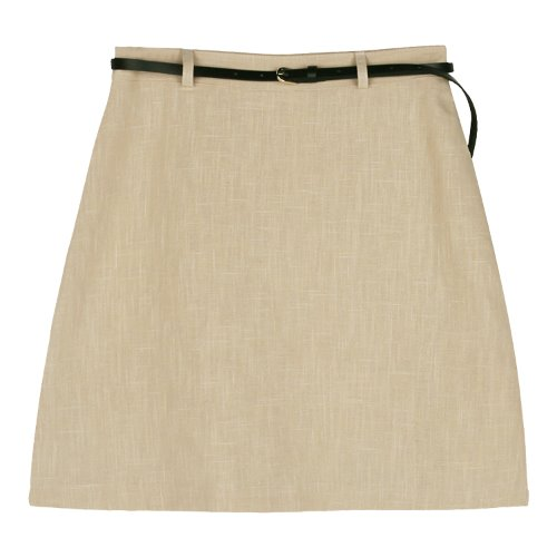 iuw441 belt linen skirt (beige)