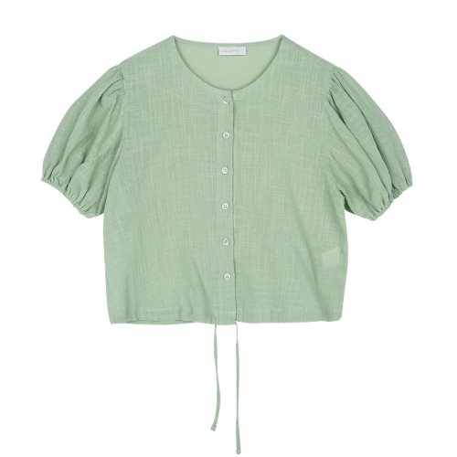 iuw427 String puff blouse (mint)