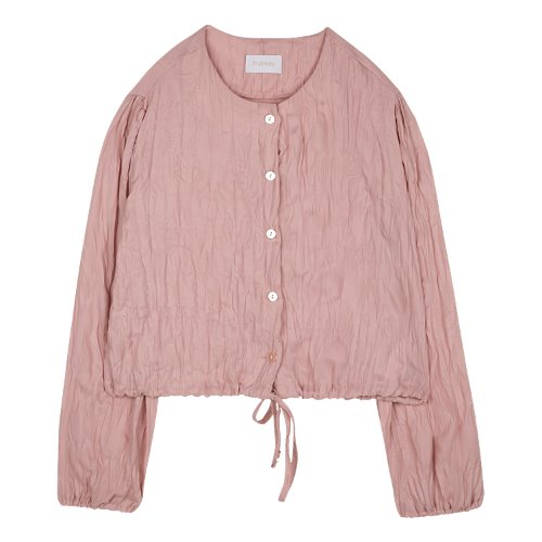 iuw472 wrinkle cropped blouse (pink)