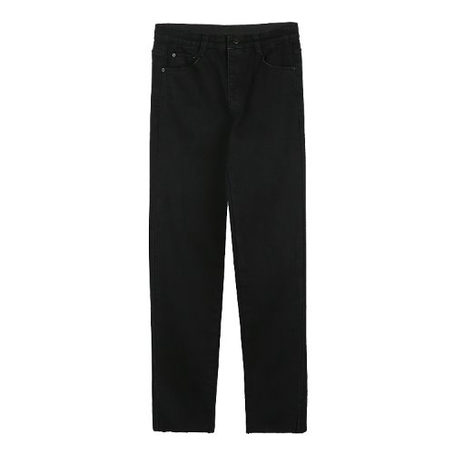 iuw533 cutting black skinny pants (black)