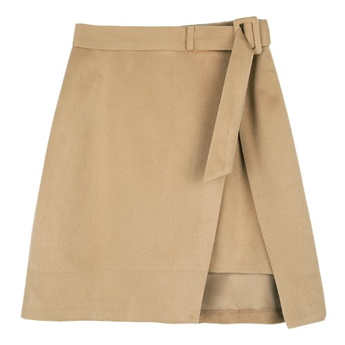 iuw531 square belt wrap skirt