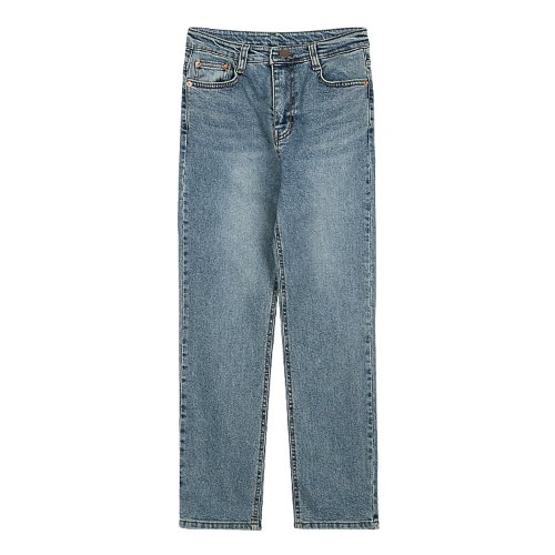 iuw535 slim straight denim pants (medium blue)