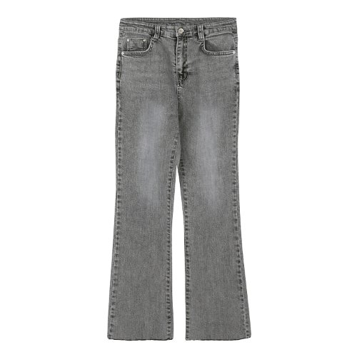 iuw539 grayish semi bootscut denim jeans (blue grey)