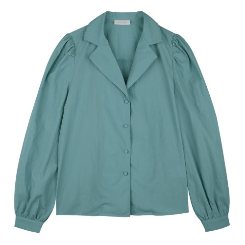 iuw632 wrinkle nylon blouse (skyblue)