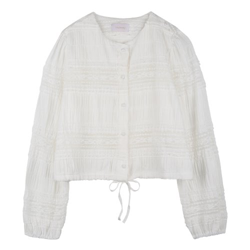 iuw647 pure crop laced blouse (ivory)