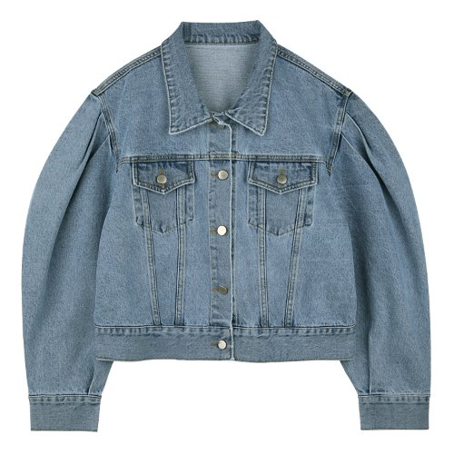 iuw655 puff denim jacket (lightblue)