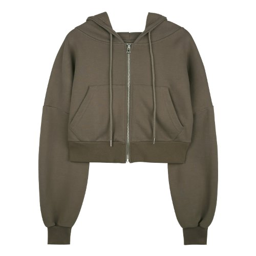 iuw626 flow hoody zip up (brown)