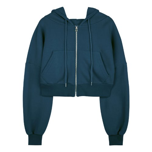 iuw625 flow hoody zip up (deepblue)