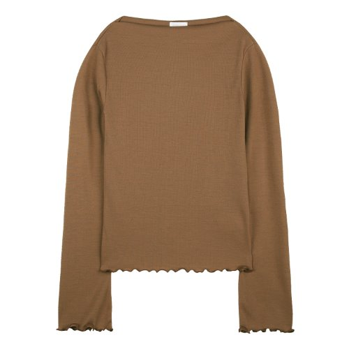 iuw621 waved boatneck T (brown)