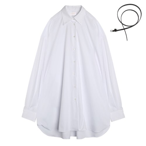 iuw630 overfit boxy long shirts (white)