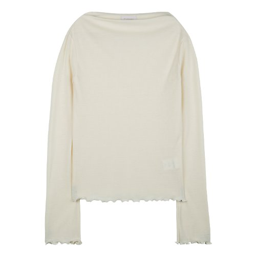 iuw620 waved boatneck T (ivroy)