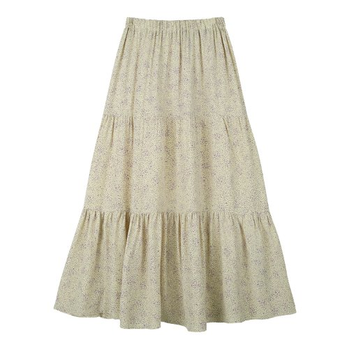 iuw662 pen dot flare skirt (yellow)